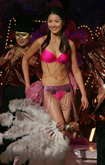 Miss Chinese International winner Leanne Li Yanan of Vancouver performs during the Miss Chinese ...