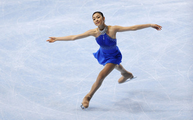 Kim Yu-na of South Korea performs during the ladies free skating Program in the Bompard Trophy event at Bercy in Paris