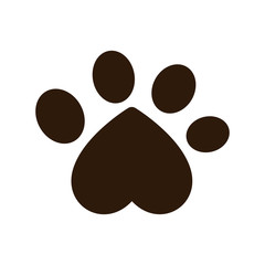 dog paw print icon over white background. vector illustration