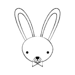 cute rabbit tender character vector illustration design