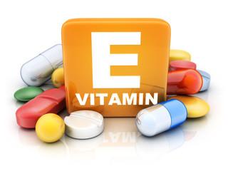 Many tablets and vitamin E