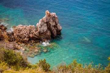 Côte méditerranéenne le long de la Voie panoramique de Porto Santo Stefano