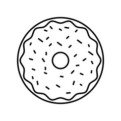 sweet and delicious donut vector illustration design