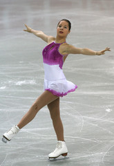 Estonia's Glebova performs during the women's Free Programme of the European Figure Skating Championships in Warsaw