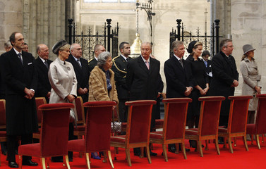 Belgium's Royal family attend Te Deum mass on King's Day at Cathedral of Brussels