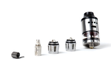 Electronic cigarette tank and coils