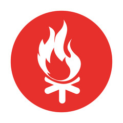 campfire flame isolated icon vector illustration design