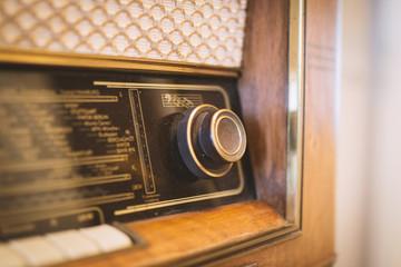 Drehknopf von altem Radio