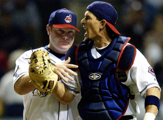 INDIANS CATCHER TIM LAKER IS EJECTED FROM GAME AGAINST TWINS.