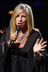 U.S. singer and actress Barbra Streisand performs in Paris