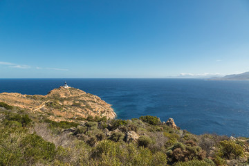 Revellata lighthouse near Calvi in Corsica