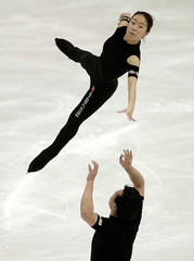 CHINESE SKATING PAIR PREPARE FOR WORLDS IN VANCOUVER.
