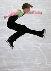 Verner from Czech Republic performs during men's short program of World Figure Skating Championships in Tokyo