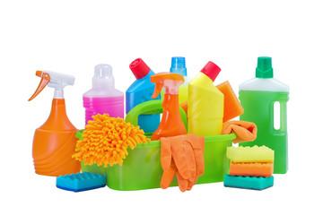 Набор предметов для уборки помещений,изолирован