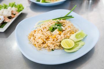Crab meat fried rice, Kao Pad Poo (classic Thai fried rice)