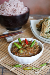 Thai food, Spicy shrimp pate