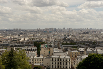 Panoramic view of Paris from Montmartre