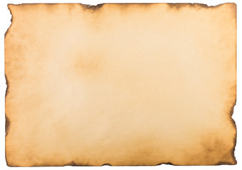 single old flat sheet of paper isolated