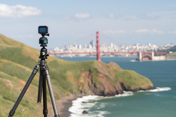 Camera taking timelapse of San Francisco