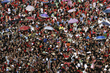 Thousands of participants are seen as they take part in an anti-drug campaign in Luneta, Metro Manila
