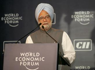 Indian Prime Minister Singh speaks in New Delhi