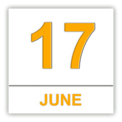 June 17. Day on the calendar.