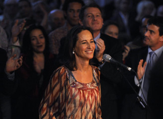 French Socialist Party's Segolene Royal attends a poltical rally in Paris