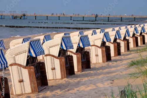 Strandkörbe  Strandkörbe am Strand