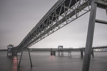 Conveyor belt on river