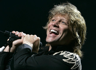 Jon Bon Jovi of U.S. rock band Bon Jovi performs at The Super Dry Live in Tokyo