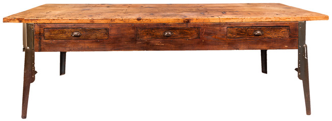 vintage workbench table