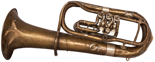 dented old tuba