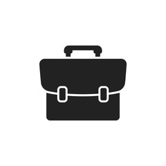 Suitcase vector icon. Luggage illustration in flat style.