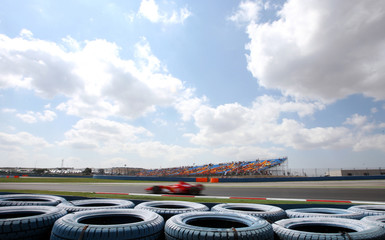 Ferrari's Formula One driver Schumacher drives during a practice session in Istanbul