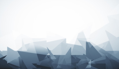 White background with grey polygonal pattern