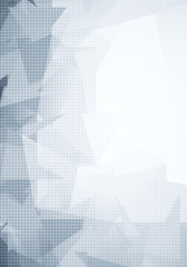 White texture with grey polygonal pattern