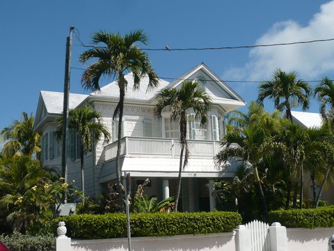 Colorful houses of Key West