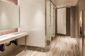 modern office restroom