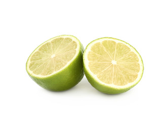 Sliced lime fruit isolated