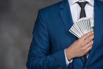 Money Cash Finance Corruption Illegal Transaction Concept - fototapety na wymiar
