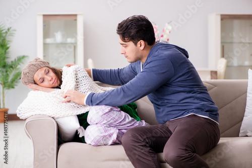 """Husband Caring For Sick Wife"" Photo Libre De Droits Sur"