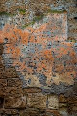 Le vieux mur en Toscane