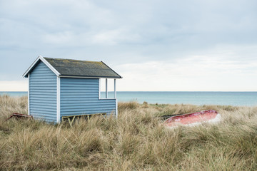 Small beach hut down by the seashore