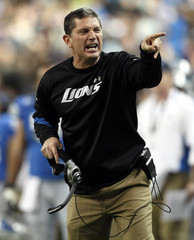 Detroit Lions head coach Schwartz reacts on the sidelines during their NFL football game against the Arizona Cardinals in Detroit