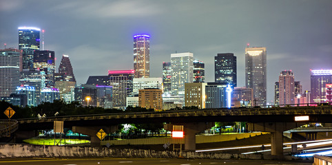 Fotomurales - houston texas skyline and downtown
