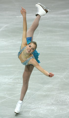 Italy's Kostner performs during the women's Short Programme of the European Figure Skating Championships in Warsaw