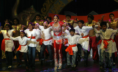 Bollywood actress Deol performs during the Rajiv Gandhi awards ceremony in Mumbai