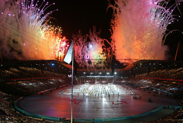 GENERAL VIEW OF THE OPENING CEREMONY OF THE MANCHESTER 2002COMMONWEALTH GAMES.