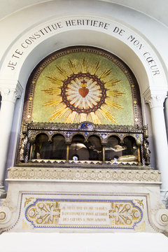 Paray-Le-Monial, France - September 13, 2016, the Relics of St. Margaret Mary Alacoque