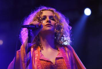 Alison Goldfrapp of British music group Goldfrapp performs at the Coachella Music Festival in Indio